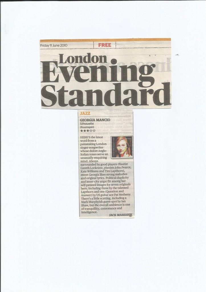 SIlhouette album review Evening Standard 2010