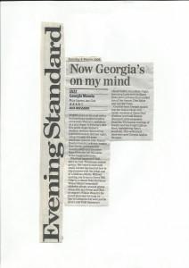 Georgia Mancio live review Evening Standard 2008