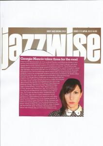 Georgia Mancio 2013 Tour Jazzwise 2013