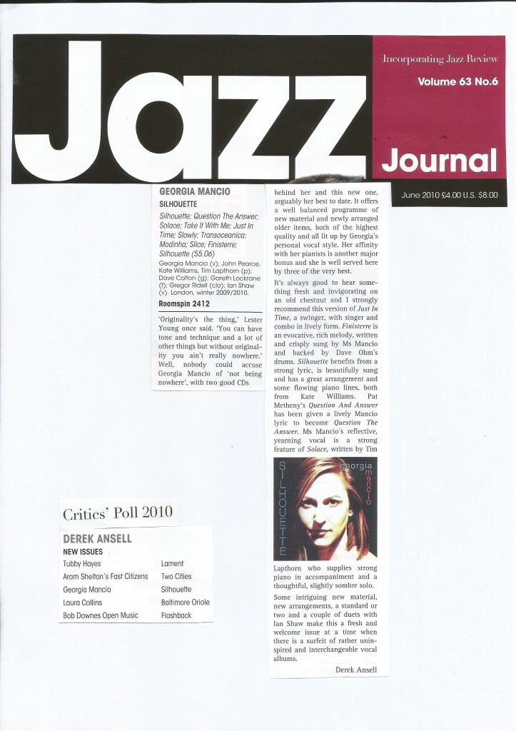 Silhouette album review Jazz Journal 2010