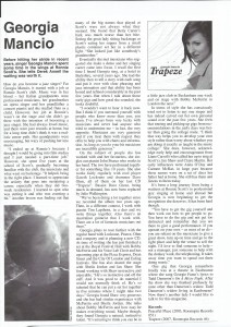 Georgia mancio interview Jazz Journal 2009