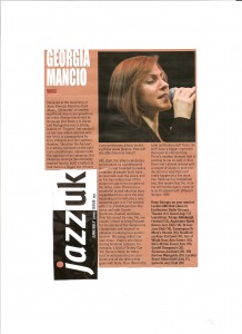 Georgia Mancio Silhouette interview Jazz UK 2010