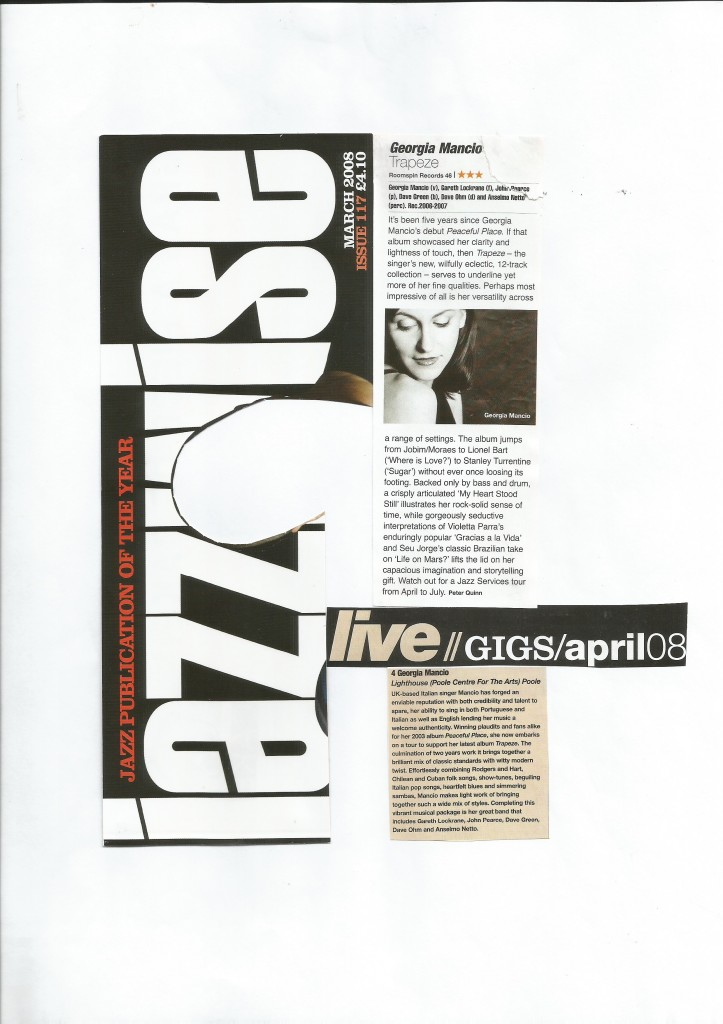 Jazzwise 2008, Trapeze review