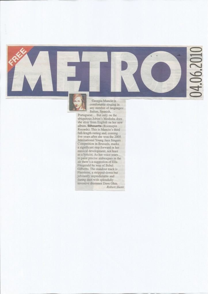 Silhouette album review Metro 2010