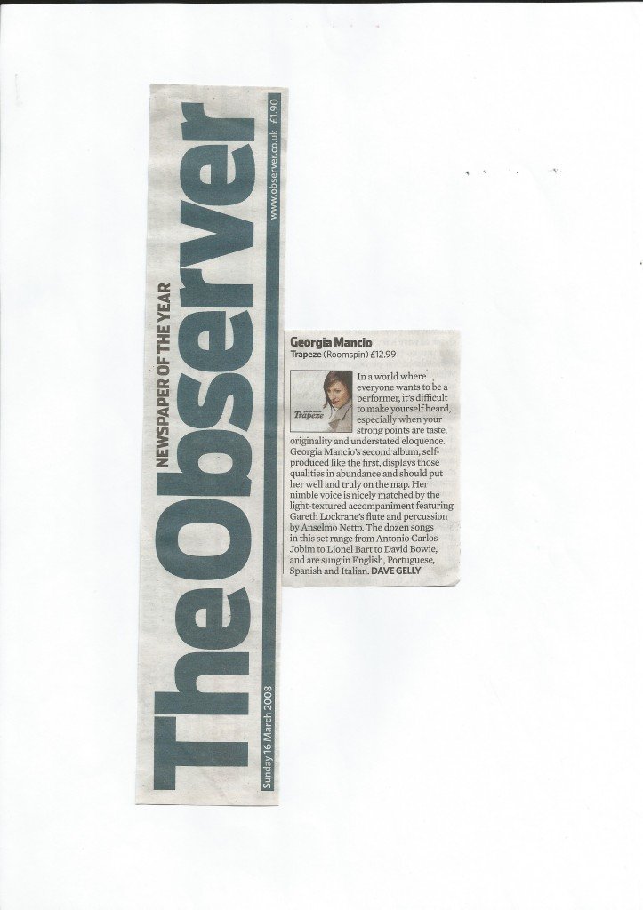 Observer 2008, Trapeze review