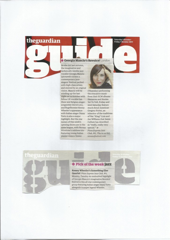 Georgia mancio ReVoice 2011 The Guardian 2011