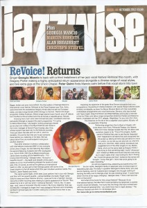Georgia Mancio interview ReVoice Jazzwise 2012