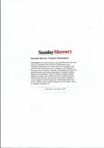 Sunday Mercury 2008