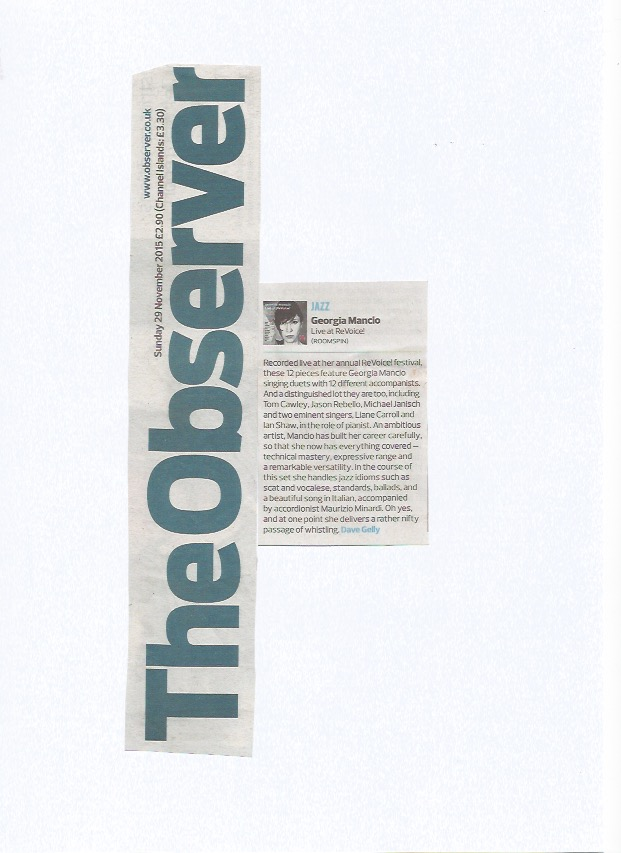 The Observer 2015, Live at ReVoice! review