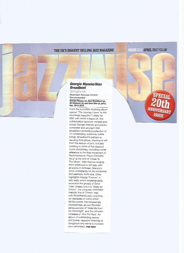 Jazzwise 2017, Songbook review