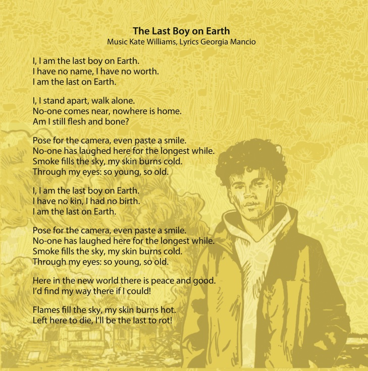 The Last Boy on Earth: lyrics